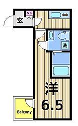 FICATA綾瀬 2階1Kの間取り