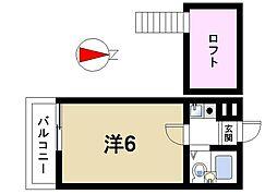 シティパレス西大寺P-2[2階]の間取り