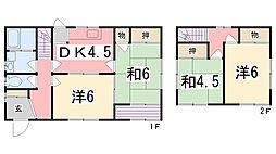 [一戸建] 兵庫県姫路市西大寿台 の賃貸【兵庫県 / 姫路市】の間取り