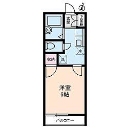 アリス生田[0202号室]の間取り