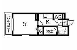 JR東北本線 東仙台駅 徒歩2分の賃貸マンション 4階1Kの間取り