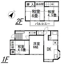 [一戸建] 埼玉県桶川市泉2丁目 の賃貸【/】の間取り
