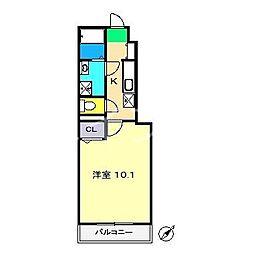 ジ アパートメント[1階]の間取り