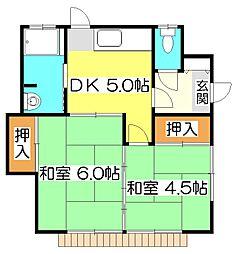 [一戸建] 東京都清瀬市中里1丁目 の賃貸【/】の間取り