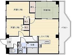 ココ川崎[1階]の間取り