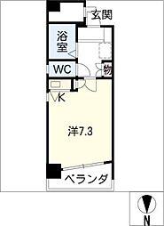 クレセント葵[4階]の間取り