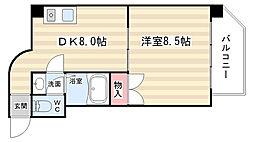 シャトー庵[3A号室]の間取り
