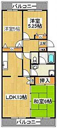 エクセル飯塚[1階]の間取り