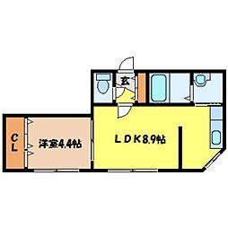 北海道札幌市北区北二十五条西5丁目の賃貸マンションの間取り