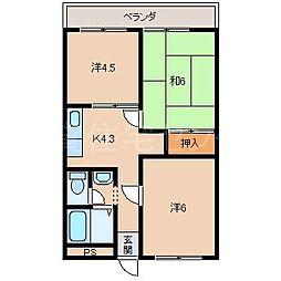 池西マンション[3階]の間取り