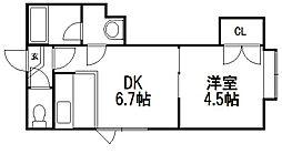 TMS円山[202号室]の間取り