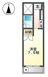 愛知県稲沢市駅前4丁目の賃貸マンションの間取り