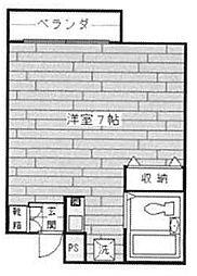 姫島マンション[202号室]の間取り