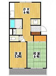 ルミナスヤマザキ[3階]の間取り