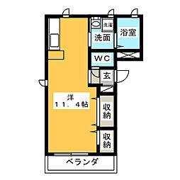 ユニバーサルII[2階]の間取り