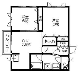 ピアジェSAKAI[2階]の間取り