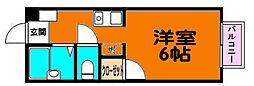 香川県高松市今里町2丁目の賃貸アパートの間取り