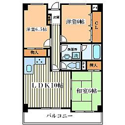 K&T御幣島マンション[3階]の間取り