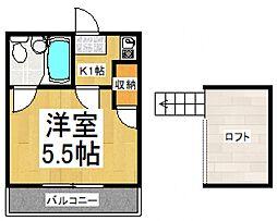 リバーブル久米川[2階]の間取り