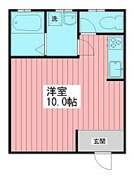 グローワン天王台[102号室]の間取り
