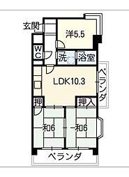 CIELO平針[4階]の間取り