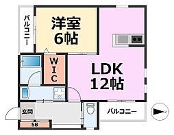 メゾン七松II[201号室号室]の間取り