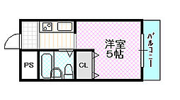 メゾン・ド・シュルヴィー[2階]の間取り