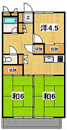 キタミビル[B201号室]の間取り