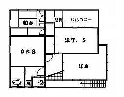 [一戸建] 神奈川県横須賀市浦上台2丁目 の賃貸【/】の間取り