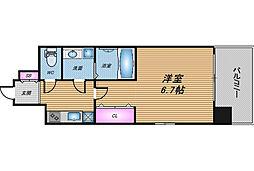 おおさか東線 JR淡路駅 徒歩3分の賃貸マンション 1階1Kの間取り