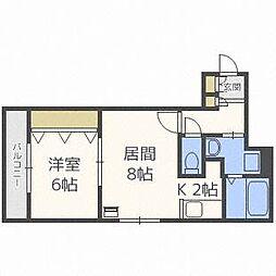 北海道札幌市中央区南七条西14丁目の賃貸マンションの間取り