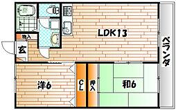 サンクチュアリ[3階]の間取り