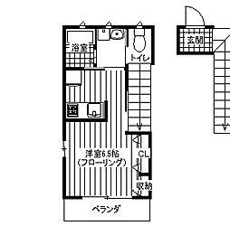 プリムローズハウス[202号室]の間取り