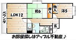 レジデンス別院[4階]の間取り