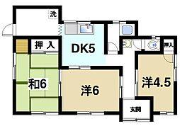 [一戸建] 奈良県生駒市西松ケ丘 の賃貸【/】の間取り