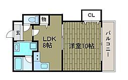 サニーハイツクボタ[3階]の間取り