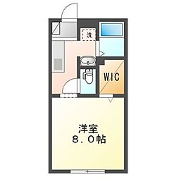 JR内房線 木更津駅 徒歩29分の賃貸アパート 2階1Kの間取り