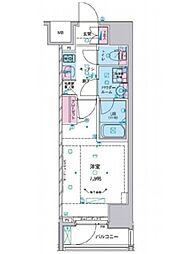 都営大江戸線 麻布十番駅 徒歩10分の賃貸マンション 10階1Kの間取り
