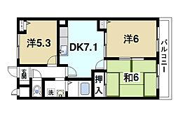 グランシャリオ桜井[3階]の間取り