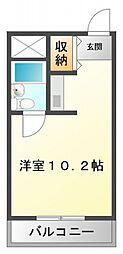 シャトー金沢[4階]の間取り