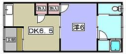 中村文化[2階]の間取り