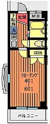 新葉ラピス第三ビル[601号室]の間取り