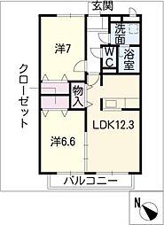 パレ・ガルニエ WEST[2階]の間取り