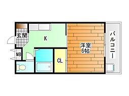 ネオシティ青山[2階]の間取り