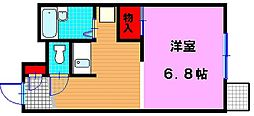 大阪府大東市深野2丁目の賃貸アパートの間取り