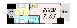 エスプレイス大阪リバーテラス 9階1Kの間取り