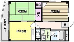 兵庫県神戸市東灘区住吉台の賃貸マンションの間取り