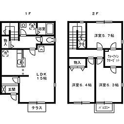 [タウンハウス] 大阪府岸和田市南上町2丁目 の賃貸【/】の間取り