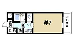 クレール秋篠[3階]の間取り