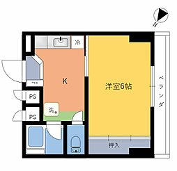 神中マンション[4階]の間取り